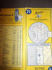 carte michelin 71 la rochelle bordeaux 1964 2
