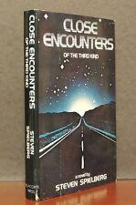 Close Encounters Third Kind Steven Spielberg 1977 VG HC DJ BCE Delacorte Press