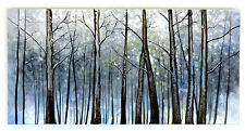 Dipinto a mano olio su tela quadro tela dipinta alberi natura 120x60