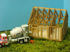 N SCALE  ** Laser Cut **  Single Story House Under Construction Kit
