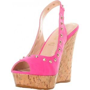 Studs Wedge Sandals-Sandalo Zeppa sughero borchie donna GAS YK110  fuxia N. 39