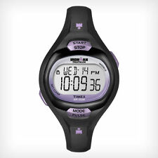 Timex T5K187 Women's Ironman Pulse Calculator Watch, Indiglo, Chronograph