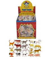 12x Mini Fattoria Animali Figure Toy Grande Bambini Giocattoli Per Feste Sacchetti PINATA UK Venditore