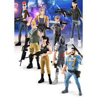 Fortnite Toys Action Figures 8 Pcs Set: Trooper Ninja Outlander Commando Skull