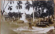 Cienfuegos, Cuba 1915 AZO Realphoto Postcard: Vista del Parque