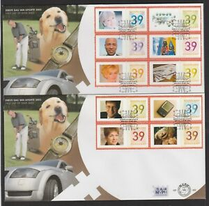 NETHERLAND - 2003 GREETING STAMPS complete set of 10 VF Used on TWO FDCs