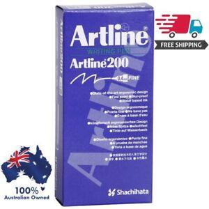 2 x Box (24) Artline 200 BLACK 0.4mm Fine Line Pens