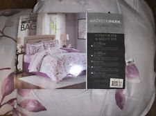 Madison Park Essentials Lafael Queen Size Bed Comforter Set Bed in A Bag - Pu...