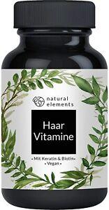 Haar-Vitamine - Einführungspreis - 180 Kapseln - Hochdosiert mit Keratin,