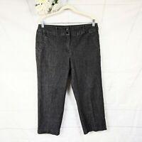 Sandro Sportswear Women's Black Capri Jeans Size 12