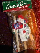 HANDYMAN SANTA ON LADDER Christmas decoration holiday craft xmas painter vintage