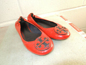 Tory Burch Red Patent Leather Ballet Flats Women Size 7M
