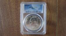 1971-S $1 Eisenhower PCGS MS65 $1 Silver - 50th Anniversary