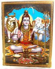 BILD picture Shiva und Nandi   Hinduismus Prägedruck INDIEN India Poster 321