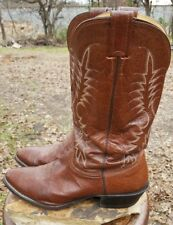 Nocona Brown Rodeo Leather Western Roper Boots Men's Size 10.5 D