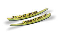 John Deere Hood Trim Decal Set - GX21140 GX21141 - L100 L120 L130, 3M Quality
