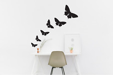 Butterfly Wall Stickers Silver Set of 6 Different sizes - Mural Vinyl Stickers