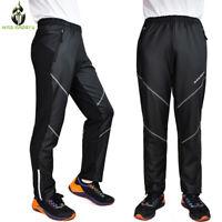 Mens MTB Bike Thermal Long Pants Reflective Riding Sports Casual Long Trousers