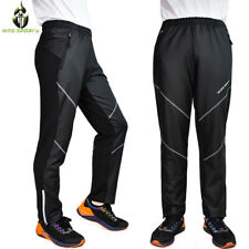Mens MTB Bike Thermal Long Pants Reflective Riding Sports Casual Long Trousers