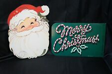 VTG Hallmark NWT Christmas SANTA Paper DIE CUT OUT Door Walls Windows DECORATION