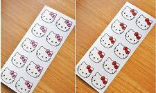 Hello Kitty Head Transparent Round Sticker Red+Pink =2sheets Kids Girls Children