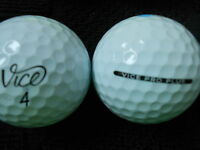 "10  ""VICE PRO PLUS"" - Golf Balls  - ""PEARL/A"" Grades."