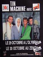 PUBLICITÉ 1991 TIN MACHINE AVEC NRJ A L'OLYMPIA ET ZENITH - ADVERTISING