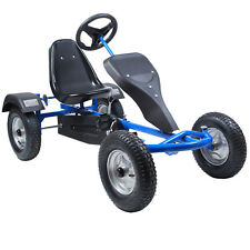 2-Sitz Go-Kart Rennkart Kart Tretauto Gocart Kinderfahrzeug Kinder Cart Blau