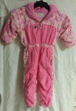 Obermeyer Girls Ski SnowSuit Preschool Size 3 Pink Fairytale - Used - Free Ship