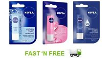 Nivea Essential Lip Balms Original Soft Rose Hydro Care 4.8g (pack of three)