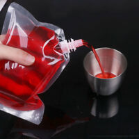 20 Pcs Reusable Drinking Flasks with Funnel Concealable Plastic Liquor Pouch Bag
