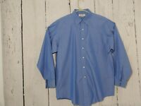 Brooks Brothers Mens Size 17-35 Long Sleeve Button Dress Shirt Light Blue