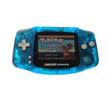 Gem Clear Blue Game Boy Advance w/ Ags-101 Brighter Backlight Backlit Screen
