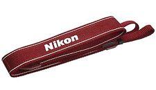 Nikon JAPAN Camera Neck official Strap AN-DC3 RD for D5200 D5300 D3100 D3200 Red