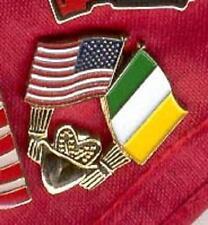 New listing Patriotic Irish American Claddagh Crown Heart Usa Ireland Flags Error Lapel Pin