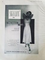 1948 Skylon women's white slip ballet slippers vintage fashion ad