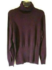 Louis Dell'Olio Whisper Knit Turtleneck Sweater Purple XL Long Sleeve Women YE18
