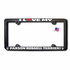 I Love My Parson Russell Terrier License Plate Frame