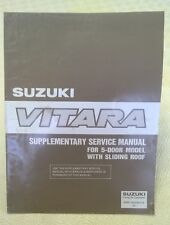 Suzuki Vitara 5 Door Workshop Service Manual Early Models with Sliding Roof