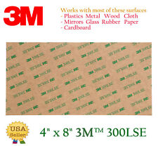 3M 300LSE 4''x8'' Double Sided-SUPER Adhesive Sheet Transparent Tape Sticker