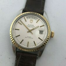 TUDOR PRESIDENT JUMBO DAY DATE OYSTER PRINCE AUTOMATIC REF 7017/0  C.1970 38 MM