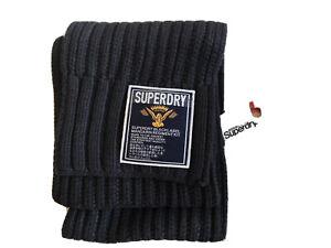 Mens Superdry Super Cable Scarf Blacklabel Scarf BNWT