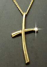 Damen Gold Kette 45 cm. + Kreuz Diamant  / Brillanten Anhänger 585 er Gold