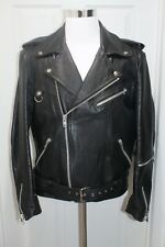 Drag Specialties Heavy Black Leather Motorcycle Biker Jacket Moto Men's Size 46