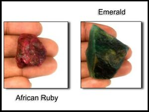 US Verkäufer Natürlich Kolumbianisch Smaragd & Afrikanischer Rubin 210 Karat