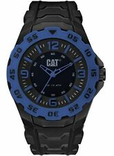 NEW Men's Caterpillar CAT Motion LB.161.21.136 Black/Blue Rubber Analog Watch