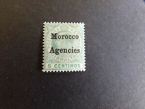 Morocco Agencies - Edward VII 1904 Five Centimos Overprint Mounted Mint