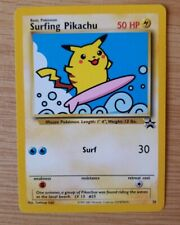 Surfing Pikachu # 28 Black Star Promo WOTC Rare Pokemon Card