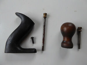 Vintage Plane Handle, Knob, & Fixings. From a Record 4 1/2.