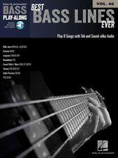 Best Bass Lines Ever Sheet Music Bass Play-Along Book and Audio New 000103359